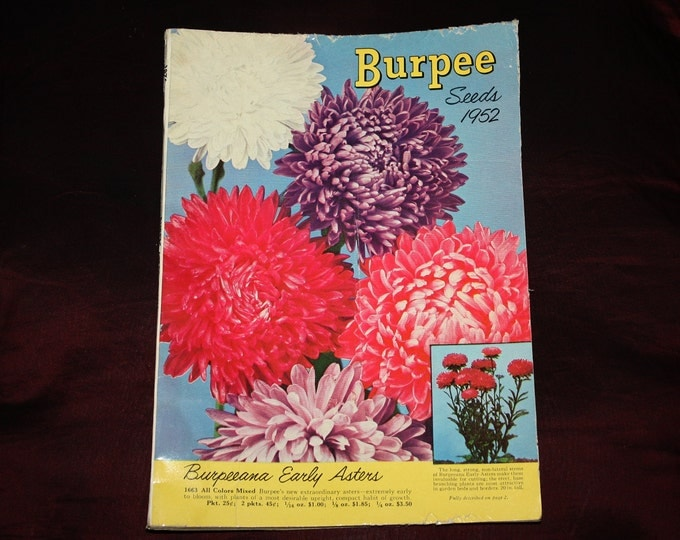 Original 1952 Burpee Seeds Catalog! 130 Pages, Fruit & Vegetables, Complete with Order Forms