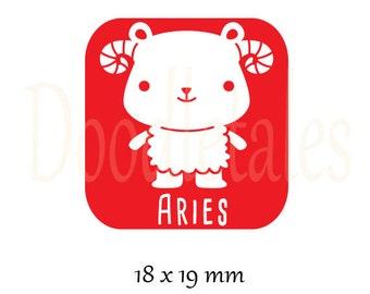Horoscope Aries (Rubber Stamp)