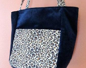 Lisa #55  Leopard Print Bag, Leopard Print Bag, Knitting Bag, Knitting Bags, Small Knitting Bag, Project Tote, Small Project Totes, Bags,Bag