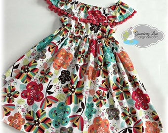 Ready to Ship Size 5 Boho Jewel Off the Shoulder Dress