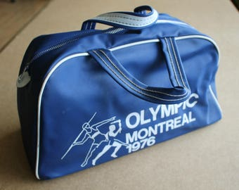 Vintage 1976 Montreal Olympics Vinyl Travel BAG...Olympique Montreal...Nice!