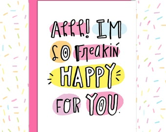 Congrats Wedding Card, Pregnancy Card, New Baby Card, Congratulations Card, Wedding Card, Baby Shower Card, Just Becuase
