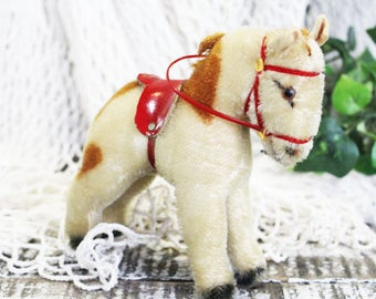 Vintage STEIFF Horse, Paint Horse, Vintage Stuffed Animal