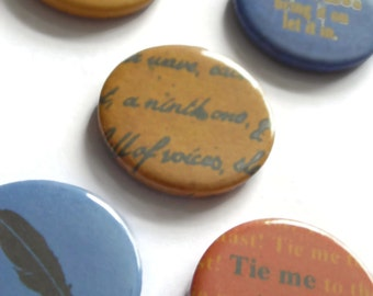 Introductory price Kate Bush badges or magnet set of 5 - BEFORE THE DAWN - Btd pins buttons stocking filler men gift Etsy uk