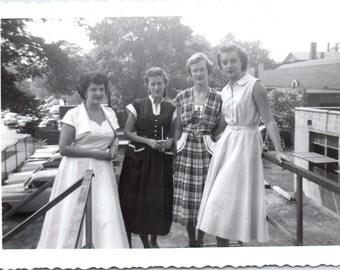 Vintage Photo - Four Girls - Vernacular, Found Photo (A)