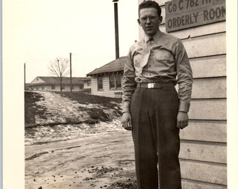 Vintage Photo - Man in Uniform - Military Photo, Vernacular, Found Photo (B)
