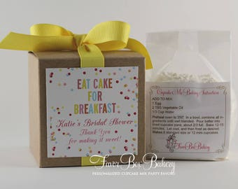 EAT CAKE! - One Dozen (12) Bridal Shower, Baby Shower, Brunch  Cupcake Mix Party Favors