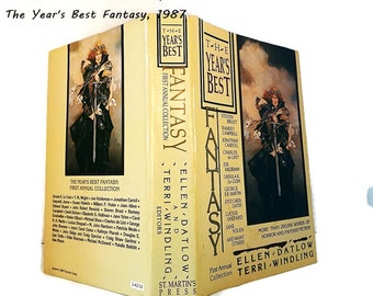 Years Best Fantasy/ First Annual Collection/ 38 Short Stories / The Best of Fantasy Compiled by Ellen Datlow and Terri Windling