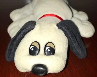 vintage 1980's Tonka grey mini Pound Puppies plush  toy dog RAD