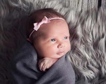 Small bow headband, pink bow headband, YOU CHOOSE COLOR, newborn baby hair bow, newborn girl bow, baby bow, newborn hair bow, tiny hair bow