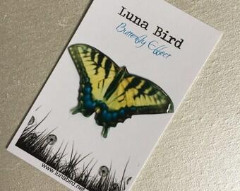 Butterfly Effect Brooch, Yellow (YB17) by Luna Bird for the 1200 Butterfly Wall at Butterfly Effect Exhibition