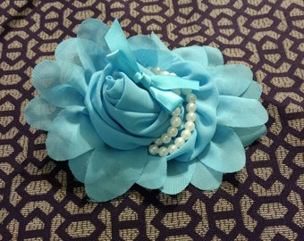Sophia headband light blue