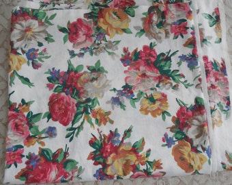Vintage Fabric Victorian  Roses