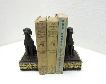 Vintage Ceramic English / Irish Setter Bookends