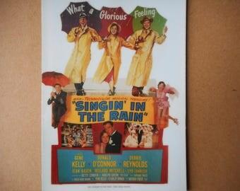 Magnet- Singin' in the Rain movie poster magnet Gene Kelly Debbie Reynolds Donald O'Conner