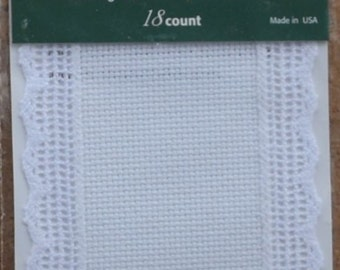 Bookmark – Charles Craft – 18 Count White Aida Trimmed in  Lace
