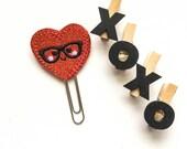 Heart Nerdy  planner clip / organizer clip /  Paperclip / Planner Bookmark - Paperclip Bookmark - Planner Clips