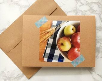 Blank Greeting Card 5x7 - Apple Harvest
