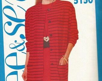 Butterick 5150 See & Sew Jacket and Dress Pattern SZ 12-16
