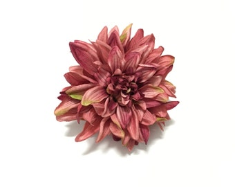 Silk Flower - One Jumbo Boutique Quality Dahlia in Shades of Mauve Artificial Flower