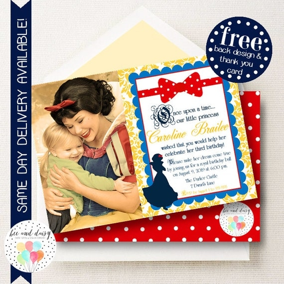 Snow White Invitation, Snow White Birthday Invitation ...