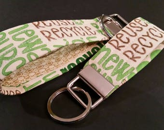 Fabric key fob, key fob, key chain, key ring, 3 inch mini key fob, 5 inch key fob