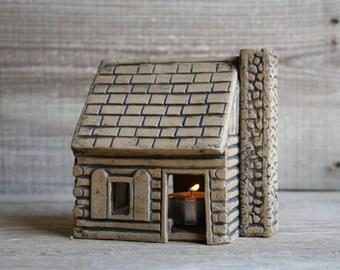 Log Cabin Luminary I
