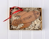 Rocket Ornament: Wood Space Christmas Ornament Personalized Name, Baby Boy 2016, First Christmas