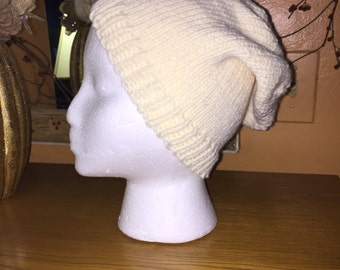 Off white slouchy hat