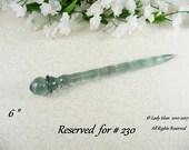 Reserved For # 230 Hair Stick Medium Length Blue Gray Smoke Crystal Acrylic