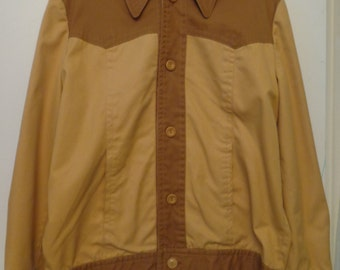 VINTAGE 1960's Men's FIELD and STREAM Two Tone Camel Jacket (available)