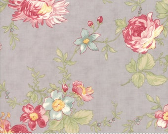 Poetry- Romantic Blooms in Stone by 3 Sisters for Moda Fabrics
