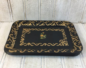 Vintage Social Supper Decorative Trays