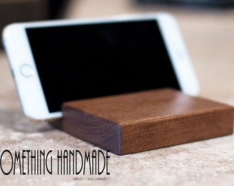 Iphone stand -cell phone stand solid cherry wood  apple  iphone stand hand made