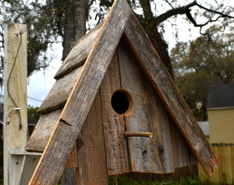Birdhouse, Upcycled wooden bird house
