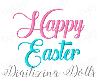 Happy Easter 2 Machine Embroidery Design 4x4 5x5 5x7 6x10 8x8 INSTANT DOWNLOAD