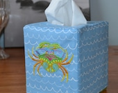 Carribbean Crab Tissue Box Cover