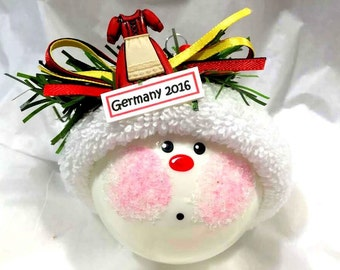 SALE GERMANY Souvenir Christmas Ornaments 2017 Oktoberfest German Traditional Dirndl Dress Personalized Townsend Custom Gifts (F) - BR