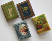 Miniature Book Set Fortune Teller Palmistry Tarot Ghosts in Dollhouse One Twelfth Scale
