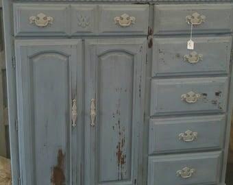 Vintage, Rustic, Farmhouse Dresser/Armoire