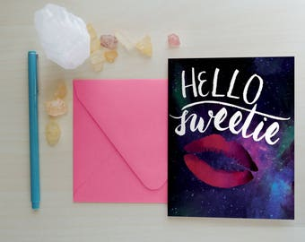 Hello Sweetie Greeting Card, Greeting Card, Doctor Who Greeting Card, River Song Greeting Card, Whovian Greeting Card: Hello Sweetie