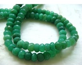60% HOLIDAY SALE Chrysoprase Rondelle Beads/ Faceted Beads/ 6mm Faceted Beads - Half Strand 9 Inches