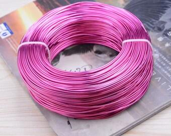 1.5mm wire, aluminium wire, aluminium thread, artistic aluminium wire, craft wire, aluminium cord wire, Aluminium line Rose 10 meters