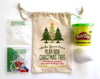 Kids Stocking Stuffer, Christmas Gift, Christmas Gift Bag, Christmas Kit, Playdoh Christmas Tree Kit, Preschool Gift, Kids Christmas Gift