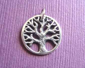 Tree Of Life Sterling Silver  Charm Pendant