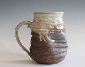 Unique Coffee Mug, 16 oz, TWISTED handmade ceramic cup, handthrown mug, stoneware mug, pottery mug unique coffee mug ceramics and pottery