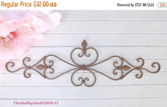 HOLIDAY SALE Wall Decor / Wrought Iron / Ornate By