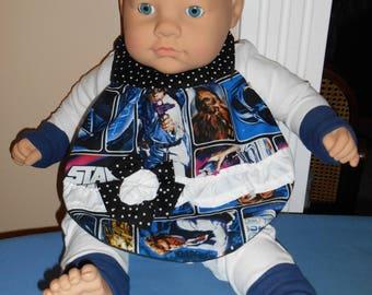 Flowered Baby Bib - Star Wars - Science Fiction - Polka Dots - Nerd - Geek - Chewbacca - Hans Solo - Girl