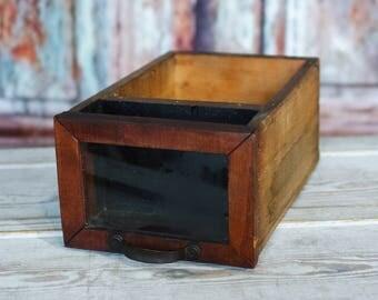 Antique Wooden Storage Drawer