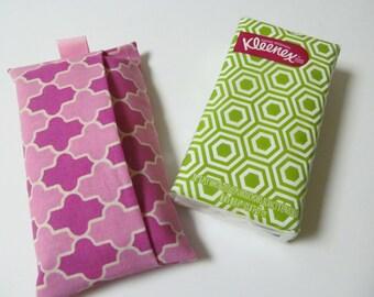 Tissue Case/Pink Quatrefoil